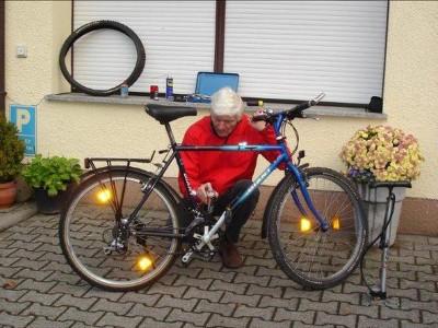 Fahrrad Reparatur für Flüchtlinge
