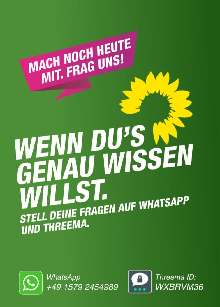 Frag die Grünen per Whatsapp