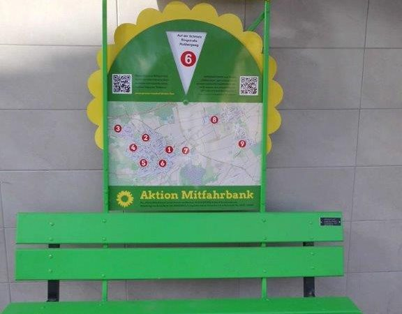 Mitfahrerbank