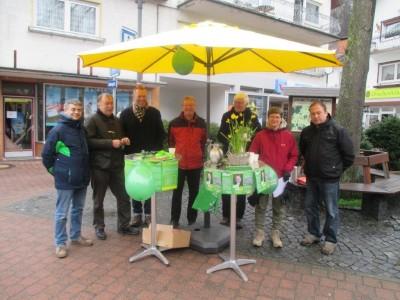 Grüner Wahlkampfstand in Lindenfels